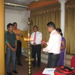 Lighing the oil lamp