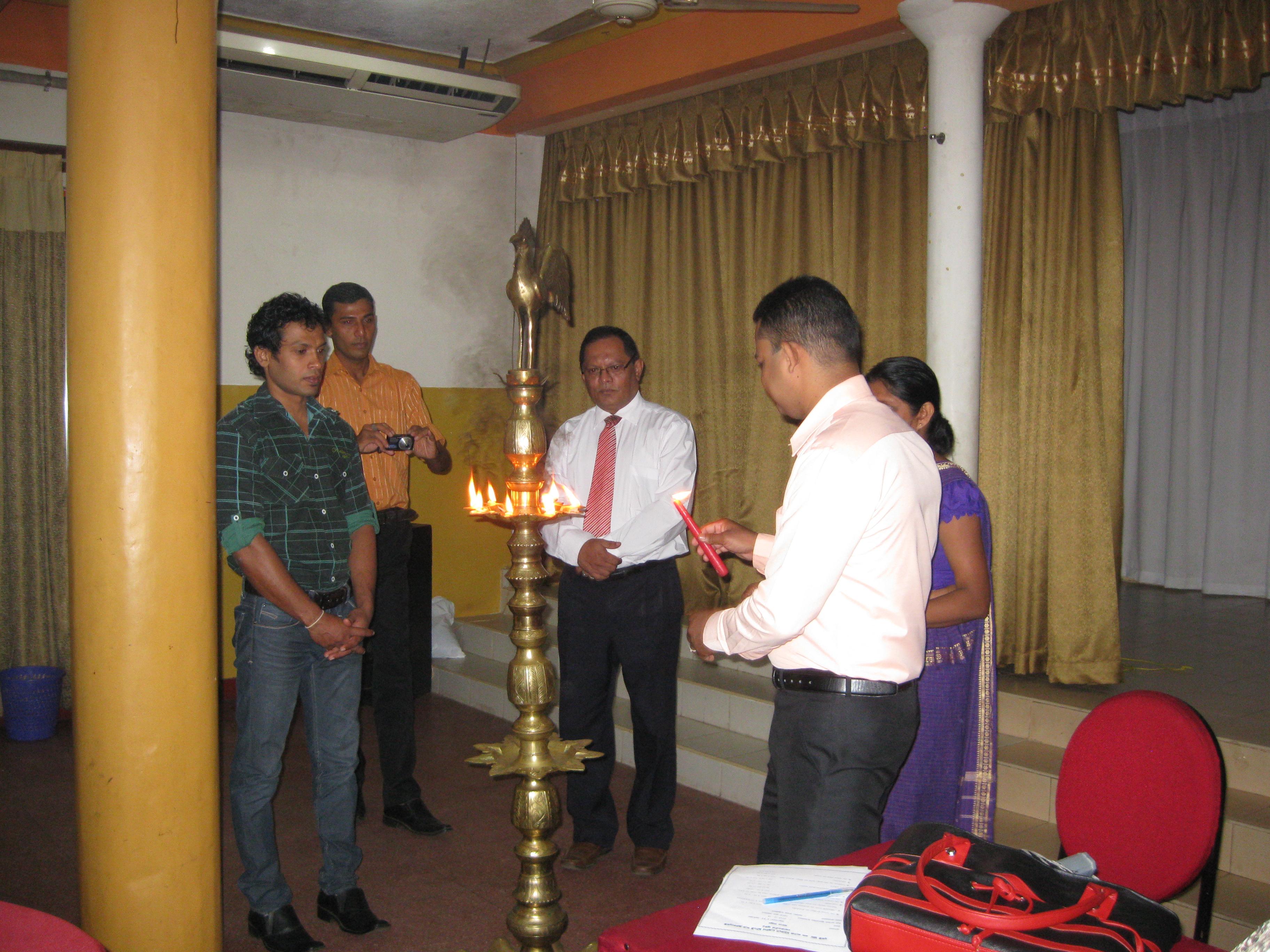 Lighing the oil lamp